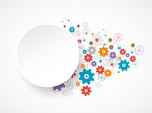Abstract cogwheel background technology theme for your business. Stock Photos