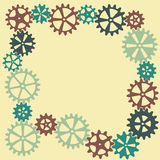 Abstract cogwheel background. Stock Photo