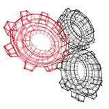 Abstract Cogwheel Gears Group Icon. 3d Render Illustration Stock Photography