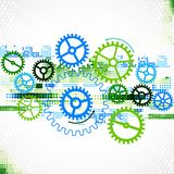 Abstract cogwheel technological background. Royalty Free Stock Image