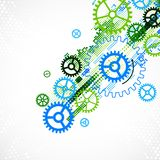 Abstract cogwheel technological background. Royalty Free Stock Photography