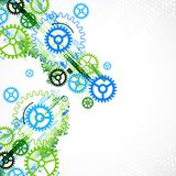 Abstract cogwheel technological background. Stock Images