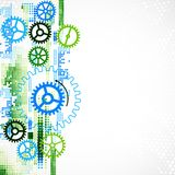 Abstract cogwheel technological background. Royalty Free Stock Photo