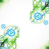 Abstract cogwheel technological background. Royalty Free Stock Photos