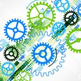 Abstract cogwheel technological background. Stock Photography