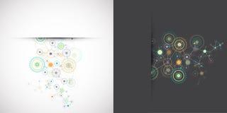 Abstract cogwheel technology net background. Stock Photography