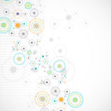 Abstract cogwheel technology net background. Royalty Free Stock Images
