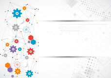 Abstract cogwheel technology net background. Stock Images