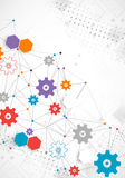 Abstract cogwheel technology net background. Stock Photos