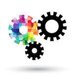 Abstract cogwheel on white background Royalty Free Stock Photo