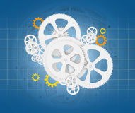 Abstract cogwheels Stock Images