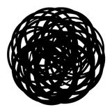 Abstract coiled wire icon shape on white Stock Photography