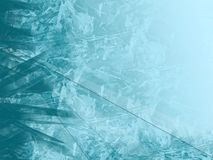 Abstract cold background. Wallpaper frozen ice background in blue Stock Photos