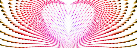 Abstract cold heart from motion line Royalty Free Stock Photography