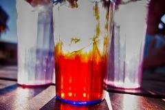 Abstract cold iced tea  in summer sun Stock Photo