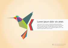 Abstract Colibri Illustration Stock Image
