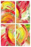 Abstract collage as background. Abstract as background, oil on canvas Royalty Free Stock Photos