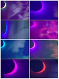 Abstract collage with colors Stock Images