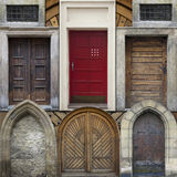 Abstract collage of old doors Royalty Free Stock Photo