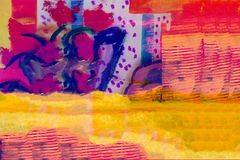 Abstract Collage on paper Stock Photo