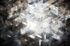Abstract collage with tech elements and stone texture Royalty Free Stock Image
