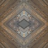 abstract collageontwerp van een beeld van houten stroken in bruine kleuren, achtergrond en textuur stock afbeelding