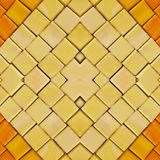 abstract collageontwerp van een beeld van marmeren stukken in gele en oranje kleuren, achtergrond en textuur royalty-vrije stock afbeeldingen