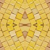 abstract collageontwerp van een beeld van marmeren stukken in gele kleuren, achtergrond en textuur stock afbeeldingen