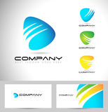 Abstract Collectief Logo Design Royalty-vrije Illustratie