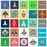 Abstract  collection of colorful flat startup icons Royalty Free Stock Images