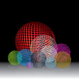 Abstract collection of spheres circle Stock Photography