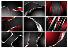 Abstract Collection stylish backgrounds Stock Photo