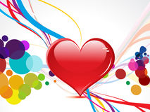 Abstract coloful heart with wave Royalty Free Stock Photo