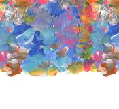 Abstract color acrylic brush strokes paint. Isolated frame. royalty free stock image