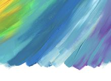 Abstract color acrylic painted background. Isolated. stock photography