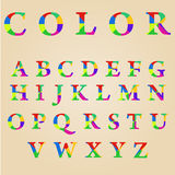 Abstract color alphabet Stock Photography