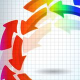 The abstract color arrow background Royalty Free Stock Photos