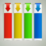 Abstract color arrow web banners Royalty Free Stock Photography