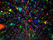 Abstract color background. Abstract fly triangle color background Royalty Free Stock Photography