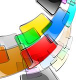 The  abstract color background Stock Photography