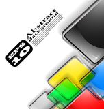 The  abstract color background eps 10 Stock Photos
