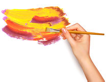 Abstract color background with hand Royalty Free Stock Photos