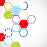 Abstract color background with hexagons Royalty Free Stock Photo
