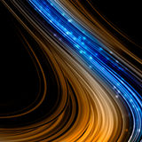 Abstract color background. With lines and sparkles Stock Photography
