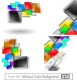 The  abstract color background set Stock Images