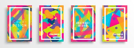 Abstract color background set for creative design royalty free stock photo