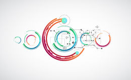 Abstract color background with various technological elements. Royalty Free Stock Photos