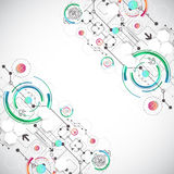 Abstract color background with various technological elements. Vector Stock Images