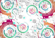 Free Abstract Color Background With Various Technological Elements. Royalty Free Stock Photography - 56591637