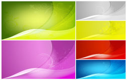 Abstract color backgrounds. Set of vector abstract color backgrounds Royalty Free Stock Photo